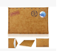 New arrival High Quality Retro Sheep Leather Envelope Protective Bag Sleeve Case For Macbook Air 11 13 retina 13 15 freeship