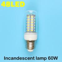 E27 48LEDS SMD 5730 (=Incandescent lamp 60W) LED Corn Bulb 220V - 240V Warm white cold white LED Lights