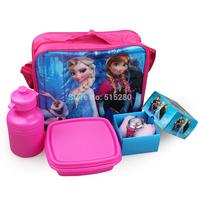 2014 Hot Sell  Watch Lunch Bag ELsa & Anna Princess Messenger Bag Lunchbox Picnic Lunch Box