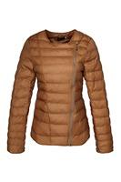 In stock new 2014 fashion winter down jacket  plus size down coat khaki color 3XL Women Clothing M08