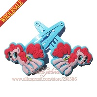 2014 New + Wholesale ,2pcs/pair,My little Horse Girls Hair Accessory,cartoon hair Clips, kids cartoon hairpins,Kids Partry Gifts