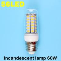 E27 56LEDS SMD 5730 (=Incandescent lamp 60W) LED Corn Bulb 220V - 240V Warm white cold white LED Lights