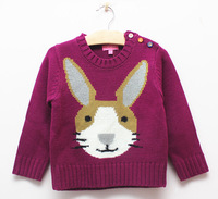 New arrival! 2014 Fashion Brand children autumn & winter sweater with animal pattern for 2~8 kids wear.