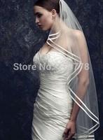 90cm  short Bridal Veils Elegant Wedding Accessories Dress Bride Cathedral Chapel
