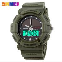 Luxury SKMEI Brand Sports Watches Solar Energy Digital Quartz Watch Multifunctional Waterproof Military Outdoor Men Wristwatches