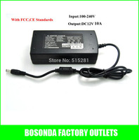High quality AC power supply Adapter to DC 12V 10A 120w,input AC100-240V 50-60H .with FCC,CE standard free shipping