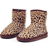 Women Faux Suede Leopard Snow Boots 2014 New Autumn /Winter Cotton Boots Shoes women's boots