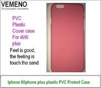 Anti-knock  feeling touch the sand PVC Plastic iphone6 plus 5.5' cover case moq 200pcs