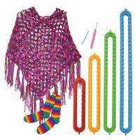 Free shipping 4 Size DIY Scarf Shawl Hat Socks Knitter Knifty Long Knitting Loom circular knitting loom