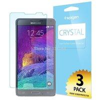 Original Spigen Galaxy Note 4 Ultra Crystal Screen Protector Premium PET Front Films for Samsung Galaxy Note4