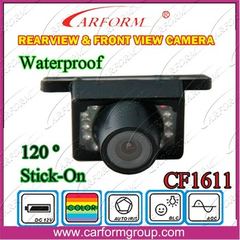 Car Rearview Camera 1611 Waterproof 120 Degree wide viewing angle View Reverse Backup camera/ Free shipping