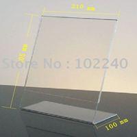 clear acrylic/plexiglass memo holder A4