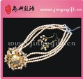 Fancy Chunky Gold Latest Neck Pearl Jewelry Set