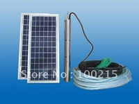 26W solar panel solar submersible water pump for family or farm