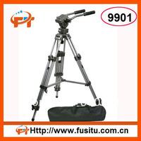 Fancier Heavy Duty 75mm Video Camera Tripod with Fluid Drag Pan Head FT9901