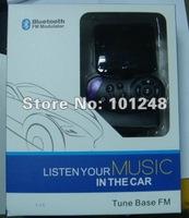 New car bluetooth handsfree kit + mp3 player fm transmitter modulator + support A2DP , SD/MMC/USB/TF memory card AT-B001B