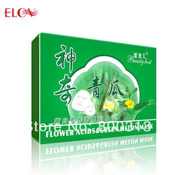 Green melon whitening  skin care facial mask