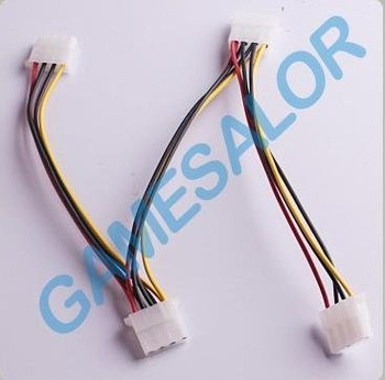 free shipping 4 Pin IDE Power Supply 3 Splitter Extension Cable  9976