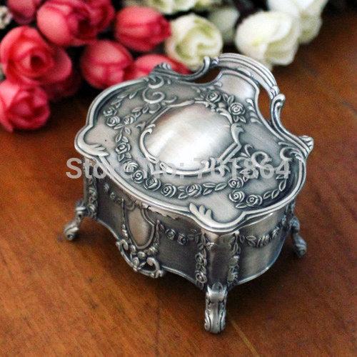 Free Shipping European Style Fashion Metal Jewelry Case Trinket Box Nenya Rings Packing Box(China (Mainland))