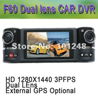 "FREE SHIPPING Car DVR dash board cam F60 Auto camera 1280x1440 30fp 5M 2 million CMOS 2.7"" TFT 16:9 Night LED Light RUSSIA"
