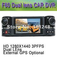 "FREE SHIPPING Car DVR dash board cam F60 Auto camera 1280x1440 30fp 5M 2 million CMOS 2.7"" TFT 16:9 Night LED Light RUSSIA"