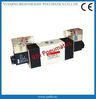 3way 3V420-15 double coil inner guide pneumatic Solenoid valve 1/2'' DC24V factory