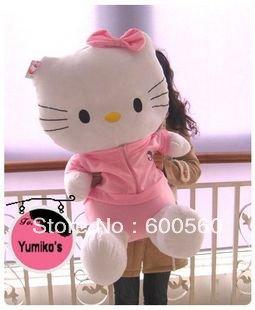 39 inches(100cm) Hello Kitty toy, Plush toy, Plush Hello Kitty, Stuffed Hello Kitty, Xmas gift, Valentine gift 50% off shipping!(China (Mainland))