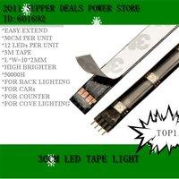 led strip,10*300MM 12pcs 5050 LED flexible led strip full color free shipping