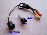 Mini Waterproof  Car Reversing Camera with diameter18.5MM,wide view angle