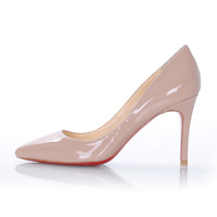 Women's fashion genuine patent leather pointed toe 85mm pumps High Heels shoes #14 Free shipping