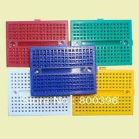 wholesale 10pcs/lot 170 tie piont  Mini Solderless Prototype Experiment Test Breadboard  35*47*8.5mm project breadboard 6 color