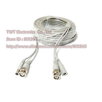 Free shipping 2Qty  10M Pre-Made Plug-n-Play CCTV Video + Power Cable Grey color