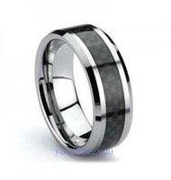Guaranteed 100% Mens Ring Tungsten & Black Carbon Fiber Wedding Band  Size 11