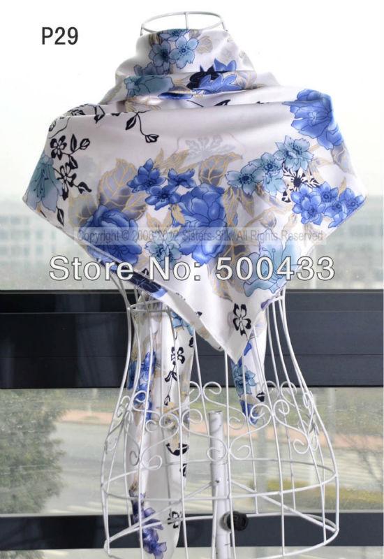 "30 Pcs/Lot 100% Silk Leopard Print Square Scarves Wholesale /32""x32"" SC062(China (Mainland))"