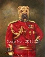 Art Elegant Portrait de gnral de l'art painting Dog