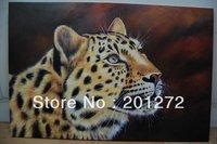 Art oil painting Repro: Leopard portrait 24x36 inch