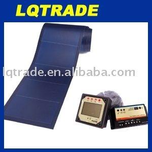 144W Flexible Solar Panel with 12V/20A Dual Battery solar controller