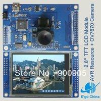 "2.8"" TFT LCD Module + AVR Atmega32 Resource + OV7670 CMOS Camera Free Shipping"