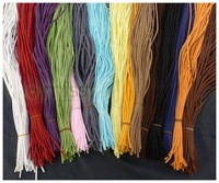 DIY 100pcs Mixed  Colors Flat  Faux Suede Leather Jewelry Cords 100cm