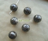 600pcs black filigree ball spacer beads 8mm C53