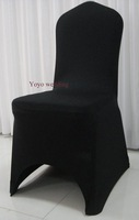 black spandex banquet chair cover (arch front)/205-210gsm