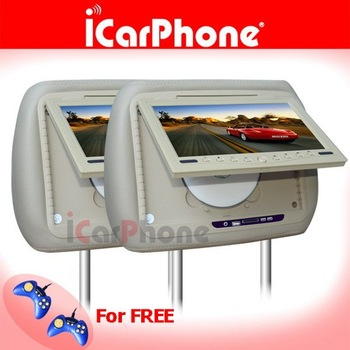 Car DVD player headrest dvd player FREE 4XGAME PADS, FREE SHIPPING