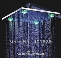 12 Inch Chrome Brass  LED Shower Head  With a Shower Arm  - Free Shipping(L-4210A)