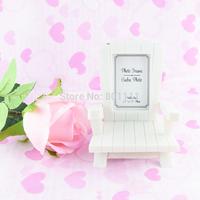 """Beach Memories"" Miniature Adirondack Chair Place Card Photo Frame Wedding Party Birthday Engagement Anniversary Favors"