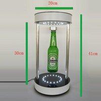 magnetic floating bottle display, levitation pop display