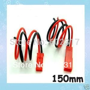 10 pair  150mm 15cm JST connector plug + connect cable for RC BEC LIPO BATTERY  Free shipping