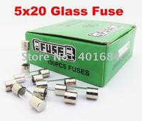 1 1ot 100pcs 250V Glass Fuse, 5mm x 20mm Fast Blow 0.1A - 20A