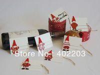 christmas decoration-christmas gift pad-xmas items-gift tags hanger-6designs asst per set-20sets/lot-free shipment