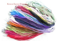 1000pcs mix color silk ribbon necklace for gift free shipping