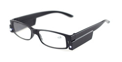 Led reading glasses,reading glass with light, assorted colors and power, wholesale and retail,free shipping(China (Mainland))